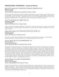 Sample Technical Writer Resume Writers Resume Template Technical Custom Best Technical Writer Resume