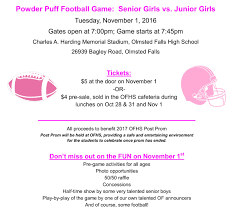 powder puff football flyers ofcs update october 31 2016 olmsted falls schools blog update