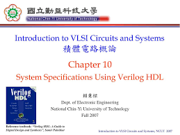 Digital Design Using Verilog Hdl Ppt Chapter 10 System Specifications Using Verilog Hdl