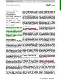 cannabidiol swinging the marijuana pendulum from weed to cannabidiol swinging the marijuana pendulum from weed to medication to treat the opioid epidemic cannabis research for addiction to opiates