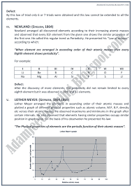 Adamjee Coaching: XII Chemistry Notes - Periodic Classification