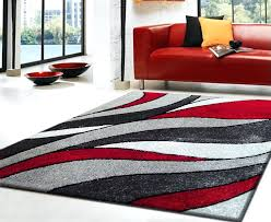 red and grey rugs rug large
