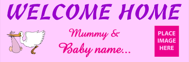 Print A Banner Welcome Home Banners