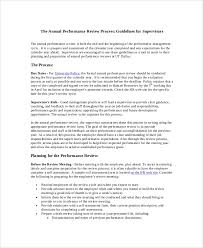 Sample Annual Performance Review Sample Performance Review 7 Documents In Pdf Word