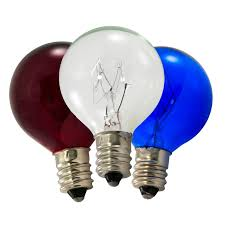 patriotic c7 globe light bulb pack