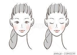 女性 顔 人物 ビューティーのイラスト素材 Pixta