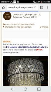 6 light chandelier costco designs