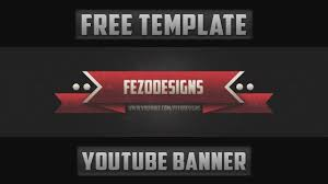 Best Youtube Banner 2d Youtube Banner Template Free Download Youtube