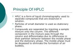 Hplc Principle Hplc