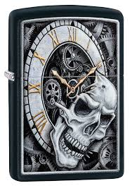 <b>Зажигалка Skull Clock</b> Design <b>ZIPPO</b> 29854 купить оптом в Москве