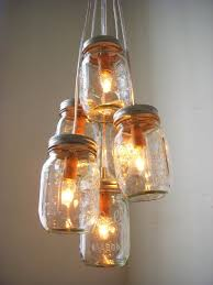 diy home lighting ideas. Wonderful Image Of Interior Lighting Decoration Using Canning Jar Lamp : Magnificent Cheap DIY Home Diy Ideas U