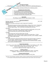 Resume Templates For Medical Technologists A Good Resume Example