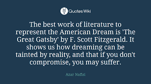 The Great Gatsby Quotes On The American Dream Best Of The American Dream Quotes QUOTES OF THE DAY