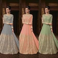 Elegance Designer Wear Salwar Suit Indian Elegant Designer Fancy Nazmin Dupatta