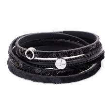 funky double wrap leather pu leather bracelets in various colours with stars hearts and tree