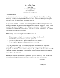 Accounts Payable Clerk Cover Letter Profesional Resume Template