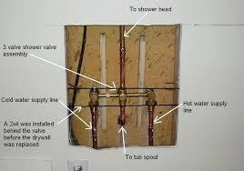 shower faucet installation pex to connection delta valve
