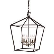 lighting fixture and supply bel air lighting lacey 6 light black and brushed nickel pendant