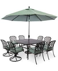 nottingham outdoor 9 piece dining set 60 square table 4 chairs and 4 swivel chairs