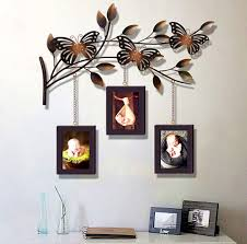 modern home decoration metal wall art hand made butterfly and tree of life with three photo on metal wall art picture frames with modern home decoration metal wall art hand made butterfly and tree