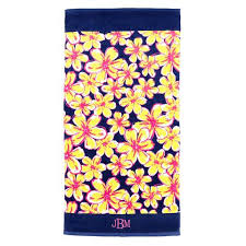 cool beach towels for girls. Floral Beach Towel- Monogrammed Cool Towels For Girls