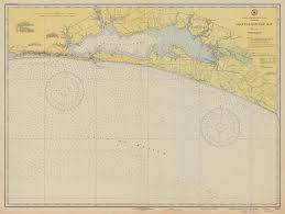 Choctawhatchee Bay 1943 Ocean City Freeport Moreno Point Wynnehaven Beach Powell Lake Florida Nautical Map 80000 At Chart 1264 Reprint