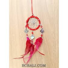 How To String Dream Catcher nylon string dream catcher keyrings with cutting glass red nylon 59