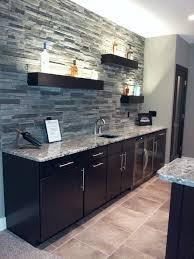 basement wet bar. Cultured Stone Can Be A Cool Backsplash! Black Mountain - Pro Fit® Alpine Ledgestone Boral USA -- Wet Bar Back Splash Basement S