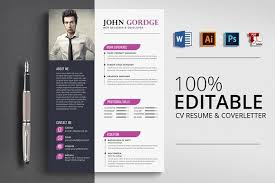 Creative Word Resume Templates Resume Templates Design Creative Word Cv Resume Template