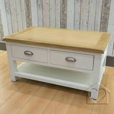 2 drawer coffee table easton