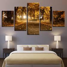 leaf framed art australia canvas paintings home decor hd prints trees pictures 5 pieces autumn