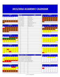 School Calendar 2015 2019 Template Academic Calendar Linearheet Excel Template March Emergentreport