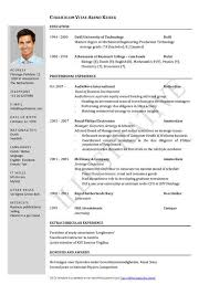 58 Fantastic Curriculum Vitae Template Free Download Resume Template