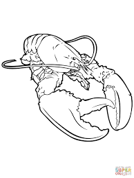 Small Picture Realistic Lobster coloring page Free Printable Coloring Pages