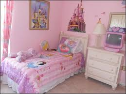 girl room wall paint ideas. kids disney princess girls bedroom ideas with blue painted wall and white bed girl room paint