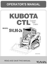 Kubota Svl95 2s Operators Manual