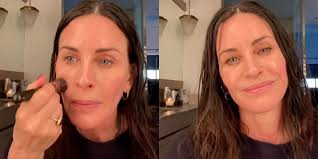 They had a great valentine's day! Courteney Cox S Skin Glows In 5 Minute Makeup Instagram Video