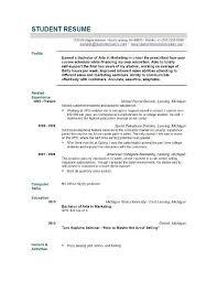 Resume Graduate School Sample