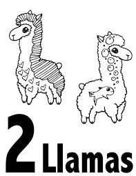 Our christmas coloring sheets are a brilliant free resource for teachers and parents to use in class or at home. Llama Numbers 1 10 Free Printable Coloring Pages Preschool Kindergarten Stevie Doodles
