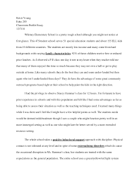sample profile essay co sample profile essay