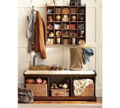Cubby Wall Organizer With Coat Rack WallMount Coat Rack Pottery Barn 57