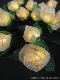 Cream Rose Fairy Lights Pin On Love These Lights For A Wedding