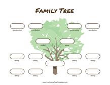 Blank Family Tree 4 Generations 4 Generation Family Tree Many Siblings Template Free