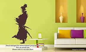 Wall Decal Size Chart Amazon Com Japanese Warrior Samurai With Sword Wall Decals