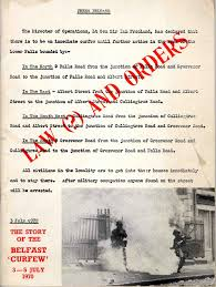 left archive law and orders the belfast curfew of  ccdc law order