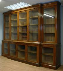 Antique Library Bookcases Library Bookcase With Doors Vintage 11ft Huge  Victorian Oak