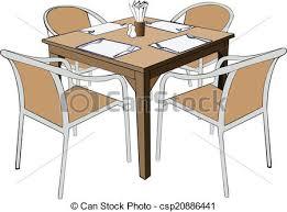 restaurant table clipart. Modren Table Restaurant Dinner Table With Chair Vector Illustation Eps To Table Clipart