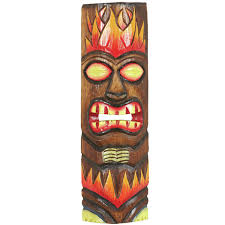on tiki mask wall art with world menagerie magee fire tiki mask wall d cor wayfair