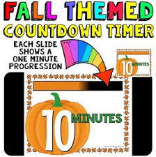 Ten Minutes Countdown Timer Countdown 10 Minutes Or Less Pumpkin Theme For Fall Activities