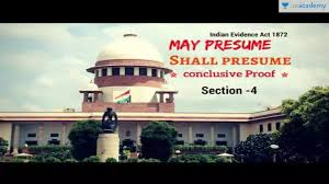 Presume May Presume- -Shall Presume- -Conclusive Proof | Indian Evidence Act ...